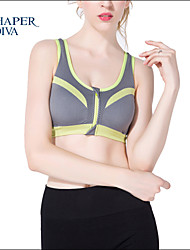 Shaperdiva Ladie's Push Up Padded Underwear Workout Sports Bras Top with Zip