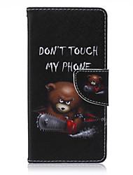 ours de tronçonneuse et laqué de téléphone PU pour Sony Xperia Z5
