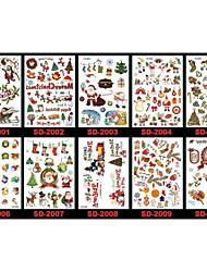 Christmas / New Year Santa Claus Series Paper 22*16*0.1cm Tattoo Stickers Tattoo Stickers(5pcs)(Random Colors)