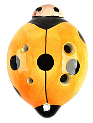 Ladybug Style 6-Hole C-Key Ocarina Musical Instrument - Orange