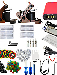 ITATOO® Professional Tattoo Kits 2 10 Wrap Coil Tattoo Machines 20 Tattoo Needles with Free Gift of 20 Pigment