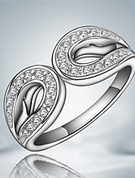 "Noble Personality ""Infinity"" Sterling Silver Zircon Party Band Ring For Women 2016"