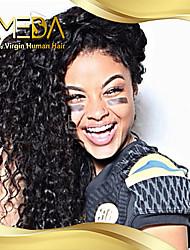 "10 ""26"" brasilianisches reines Haar 100% Menschenhaarspitzeperücken lockigen Haar Spitzeperücken"