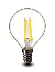 4W E12 Ampoules à Filament LED G45 4 COB 400 lm Blanc Chaud Gradable AC 110-130 V 1 pièce