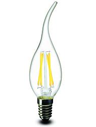1 шт. E14 2.5w 4 cob 200-250 lm теплые белые ca35 диммируемые свечные лампы ac 220-240 v