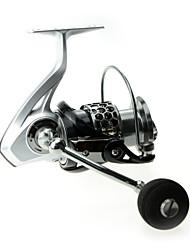 DMK DK4000 Size 12 Bearing Spinning Fishing Reel Gear Ratio 4.8:1 Exchangable Foldable Fresh Water Salt Water