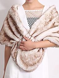 Casual Faux Fur / Orlon Capelets Sleeveless Wedding  Wraps / Fur Wraps / Hoods & Ponchos