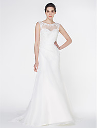 Lanting - Trumpet/Mermaid Wedding Dress - Ivory Court Train Scoop Organza