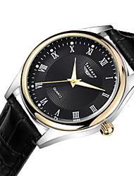 Men's Casual Genuine Leather Quartz Watches Wrist Watch Cool Watch Unique Watch