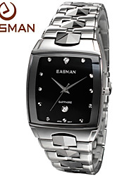 EASMAN® Mens Luxry Hardest Tungsten Steel Band Sapphire Watches Japan VX12 Quartz Date Calendar Best Gift Watch for Men Cool Watch Unique Watch