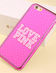Pink LOVE Pattern Plating TPU Phone Case for iPhone 6/6S