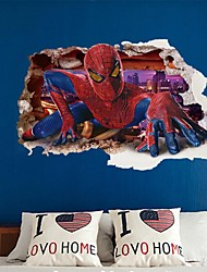 Wall Stickers Wall Decals, 3D Cool Kids Like Spider Man PVC Wall Stickers