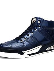 Sapatos Masculinos - Tênis Social / Sapatos para Esportes - Preto / Azul - Couro Envernizado / Courino - Ar-Livre / Casual / Para Esporte