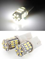 2 * t10 30 conduit 3014 SMD blanc lampe à ampoule de plaque d'immatriculation de la voiture côté de coin