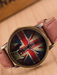 Girl's Leisure Bronze Retro Canvas Watch