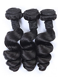 3Pcs/Lot Brazilian Loose Wave Virgin Unprocessed Human Hair Cheap Brazilian Loose Wave Romance Curl Virgin Hair Bundles