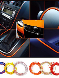 5 Meters Car Interior Exterior Body Modify Decal Mouldings Auto Car Sticker Stickers Decoration Thread