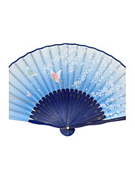 Silk Fans and parasols - 1 Piece/Set Hand Fans Garden Theme / Asian Theme / Floral Theme / Butterfly Theme Green / Blue