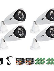 ZOSI® 4 pcs Camera Kit 900TVL IR Cut Outdoor Night Vision 100ft CCTV Seurity Surveillance Camera