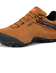 Men's Hiking Shoes Leather Black / Brown / Green