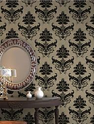 New Rainbown™Floral Wallpaper Retro Wall Covering , Non-woven Paper European Retro Damascus