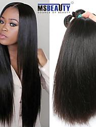 """4pcs / lot 8 """"-30"""" 5a peruanische reine Haar gerade Menschenhaarverlängerungen 100% unverarbeitetes peruanisches remy Haar spinnt"""