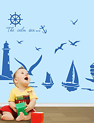9204 Wall Stickers The Calm Sea for Windows Dining Room Kid Room Girl Room Decorations Wall Decals Wall Art Cartoon