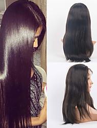 Cabelo 16inch rendas frente perucas cabelo liso mongol cabelo de seda Remy perucas mulheres celebridade estilo perucas