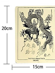 BaseKey 5PCS x Dragon Tattoo Fake Skin For Tattooing Practice 15 x 20cm