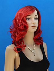 In Europe And The United States The New Red Long Inclined Bang Wig