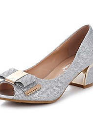 Women's Shoes  Chunky Heel Open Toe Sandals Casual Silver / Gold