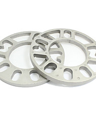 Car Automobile 15cm Dia 10mm Thickness Wheel Rims Spacers Silver Tone