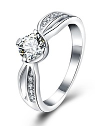 Fashion Silver Plated Personality Rings The New Allergy Pave Crystal Ring Valentine's Day Gift Hot Sale