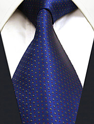 Men's Necktie Tie Multicolor Blue 100% Silk  Casual  Dress