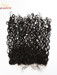 "12""-26"" Natural Black Full Lace Curly Human Hair Closure Medium Brown Swiss Lace 100g gram Average Cap Size"