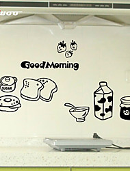 New  Milk And Bread Pattern Kitchen Wall Sticker Home Decor Vinyl Wall Decal