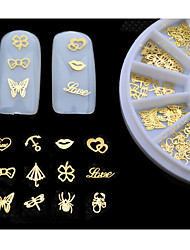 1set (120pcs) - Autocollants 3D pour ongles - Doigt / Orteil - en Adorable - mix sizes