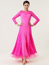 Robes ( Noire / Fuchsia / Rouge , Dentelle / Viscose , Danse moderne ) Danse moderne - pour Femme