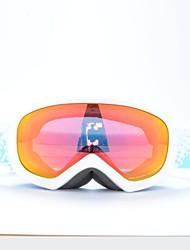 Basto marco blanco gafas de nieve esquí sensor rojo para los niños
