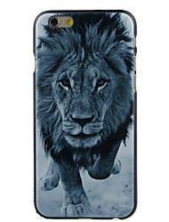 un lion de haute qualité et bon disque cas de motif de prix pour iphone 6 / 6s