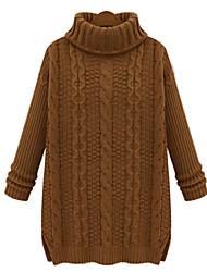 Pullover Aux femmes Manches Longues Décontracté Coton / Modal Opaque