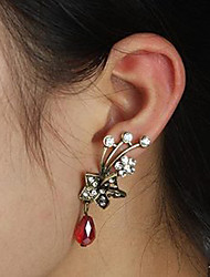 Ear Cuffs Crystal Crystal Alloy Punk Flower Silver Red Jewelry Party Daily Casual 2pcs