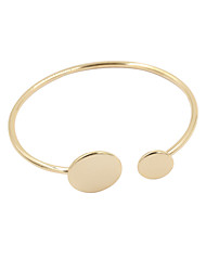Fashion Women Polished Circle Metal Adjustable Cuff