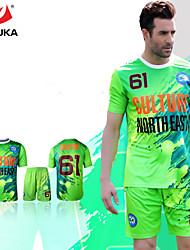 zhouka® personalizado personalizada / personalizada (palabra + número) kit del fútbol del fútbol del jersey camisa de polo del equipo de