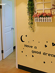 AWOO® Good Night Wall Sticker DIY Home Decorations Quotes Vinyl Wall Decals Wall Mural Art