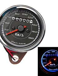 Motorcycle Odometer Speedometer Gauge Meter Dual Color LED Back Light