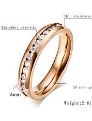 Ring Fashion Party Jewelry Steel Women Band Rings 1pc,One Size Gold