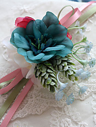 Wedding Flowers Multicolor Free-form Peonies Wrist Corsages