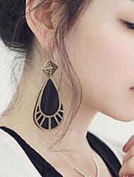 Drop Earrings Alloy Drop Black Jewelry 2pcs