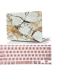 "Case for Macbook Air 11.6"" MacBook Pro 13.3""/15.4"" with Retina display Marble ABS Material 2 in 1 Marble Rubberized Hard Case Cover + Keyboard Cover"